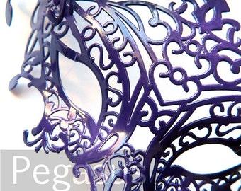 Twilight Purple Masquerade Mask base (1 Mask) Ballroom masquerade mask for a Mardi Gras, Halloween, Wedding, New year or Costume Party - M1