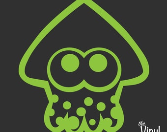 Splatoon Squid Vinyl Sticker - Inspired by Nintendo's Splatoon