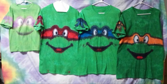 New adult made to order tie dye ninja turtle t shirts mikey ccuart Image collections