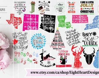 SALE ** Christmas SVG Sale over 45 Designs SVG Cut Ables Christmas Designs