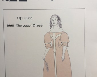 1660s Baroque Dress Pattern