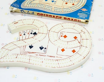 1960s Number 29 Plastic Cribbage Board, Retro Gift for Dad, Vintage Cribbage Game, Vintage Games for Adults, Grandparent Gifts, Mens Gift