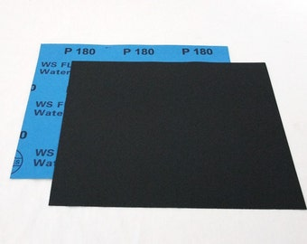 """180 Grit  Wet / Dry Sand Paper  9""""x11"""" Sheets Package  Of 10"""