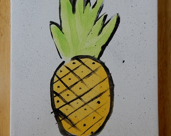 Pineapple Watercolor Canvas