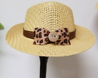 Fedora Doll Hats with bows and buttons for a 14.5 inch doll like the Wellie Wisher