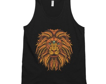 Lion Mandala Tank Top - Represent Your Buddhist, Hinduism Spirituality, and Embrace Your Inner Sprituality