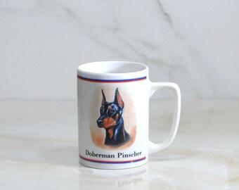 Vintage Doberman Pinscher Ceramic Coffee Mug