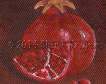 Original painting on canvas- Pomegranates