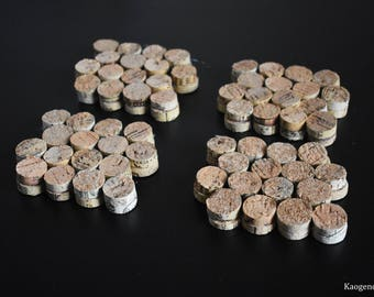 Upcycled Wine Cork Coasters 4 pc. Set