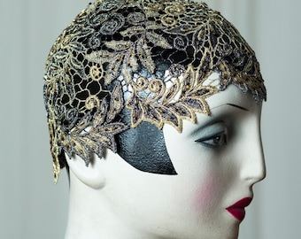 Enchanting 20s/20s Charleston Cloche/cap/vintage style cap, for a Flapper party, perfect for the roaring Twenties outfit.