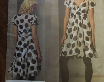 Vogue V1160, sizes 6-12, dress and pullover slip, UNCUT sewing pattern,  DKHY design