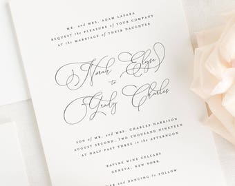 Norah Wedding Invitations - Sample