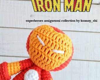 Iron Man Crochet pattern Amigurumi superhero dolls Plush toys Comics character