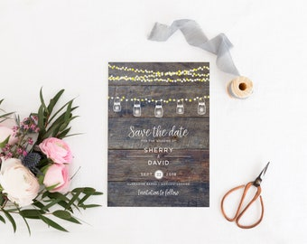 Barn Save The Date Card, Rustic Save The Date Card, Vintage Save The Date, Barn Wedding, Barn Invitation, Kensington Collection