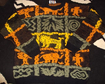 vintage 1980s hippy festival jumper by hot cashew usa