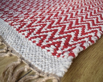 Cherry Chevron ZigZag Rug