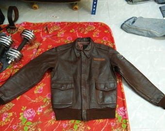 Real Vintage WW-2 Type A-2 J.A DUBOW flight jacket pit 20 L26.5 name : J.M.Cowles
