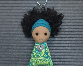 Brown Doll Keychain