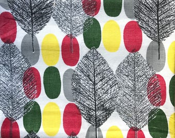 FQ Vintage Fabric Atomic Eames Leaves