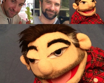 Custom made look alike portrait  Muppet Puppet lover gift  Hand puppet Muppets  YouTube movies  teachers  aid TV show