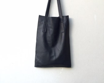 Black leather bag,Black leather tote bag,Black women bag,Black oversized bag,Black shopper bag