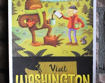 11x17 Washington State Tourism Print