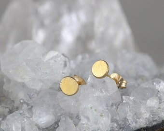 Minimalist Earrings. Dainty Gold Earrings. 21st Birthday Gift. Bridesmaid Box. Mother In Law Gift. Sun Earrings. Minimalist Jewelry.