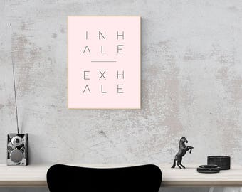 "Minimalist Inhale Exhale digital download 8""x11"" print"