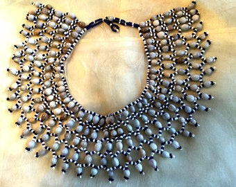 Vintage Seed and Bead Cleopatra Collar
