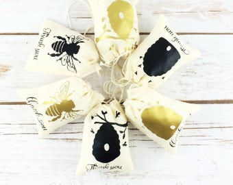 Bee Party Bags/Bee Baby Shower/Bee Party Favors/Bee Goody Bag/Bee Treat Bag/Bee Theme/Bee Thank You Bag/Thank You Bee Bag/Bee Party