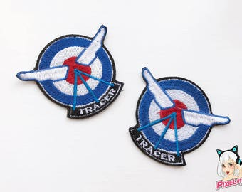 Tracer Logo Overwatch Cosplay Embroidery Patch