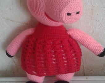 soft toy mumps Peppa cartoon chrochet gift for girl