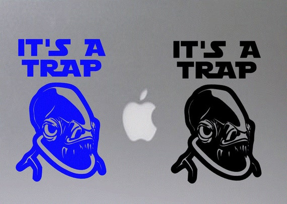 Star wars admiral ackbar its a trap inspired macbook decal