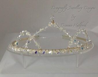 SALE Swarovski crystal AB tiara, for weddings, proms, balls. The bride, bridesmaid.