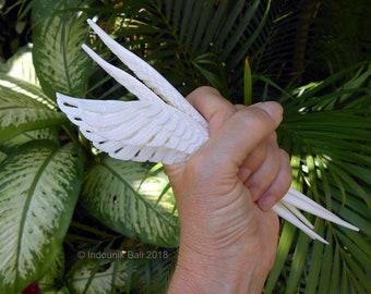 Wild Wing Carved Bone Hairstick 20cm
