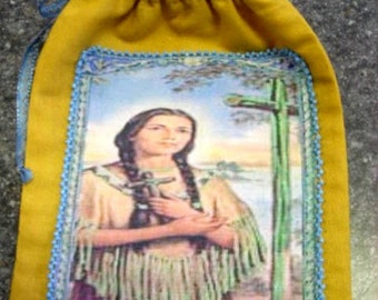Kateri Tekakwitha Rosary Bag