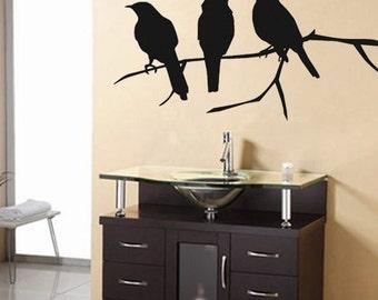 Wall Decal Crows Bird Vinyl Wall Art Decal SALE 25 BUCKAROOS