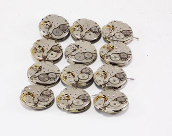 Steampunk jewelry Clock quartz watch parts movements for craft metal parts assemblage art mixed media old watch diy making watch recycle
