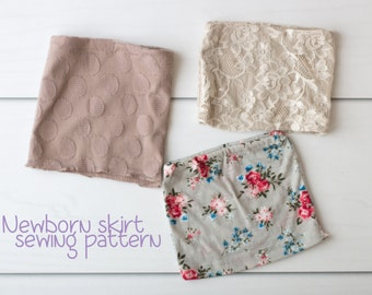 Newborn skirt sewing pattern