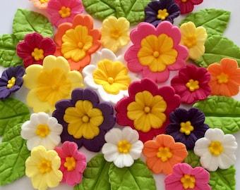 PRIMROSE SUGAR FLOWERS Edible Easter Cake Cupcake Decorations Toppers