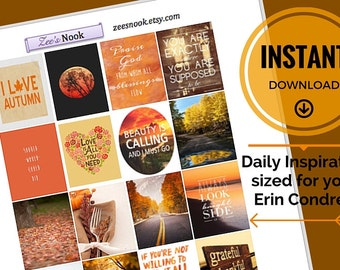 Daily Inspiration Stickers, Fall October Themed (printable)