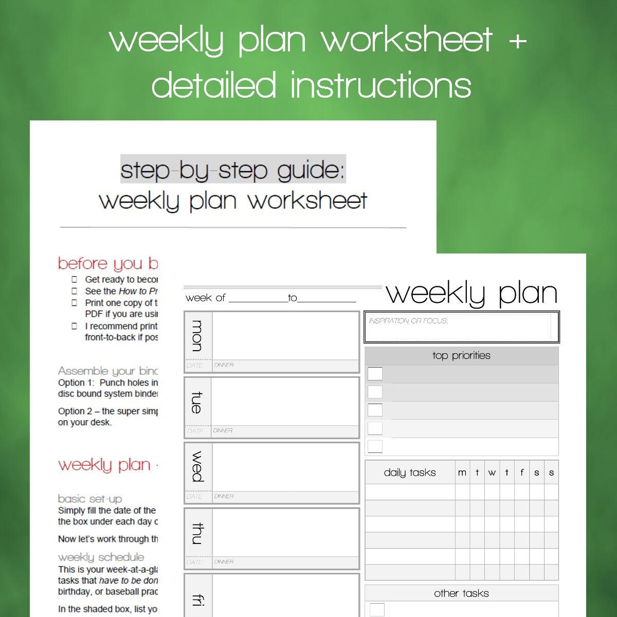 print weekly schedule