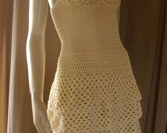 Crocheted Sundress With Layered Skirt - MADE TO ORDER
