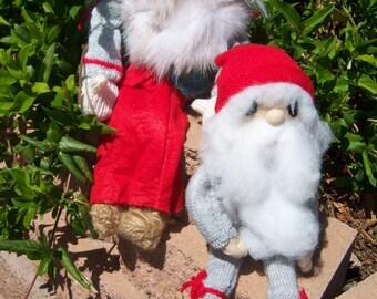 Vintage Schwedisch Tomte Dolls Jultomte und Signe
