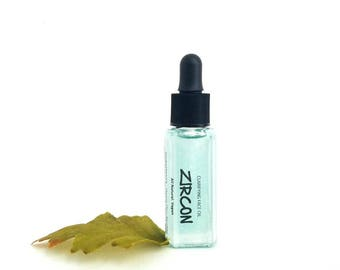 Zircon Clarifying Face Oil. Balancing Facial Moisturizer for Acne and Redness Prone Skin with Blue Tansy, Chamomile, Olive Squalane. Vegan