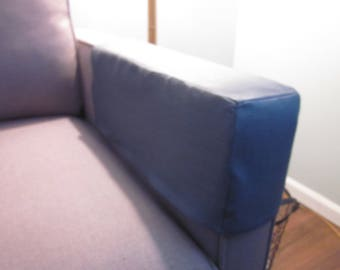 Sofa Arm Caps or Covers, Chair Arm Caps, Pair, Charcoal Linen, Made to Order, Various Fabrics and Sizes are Available