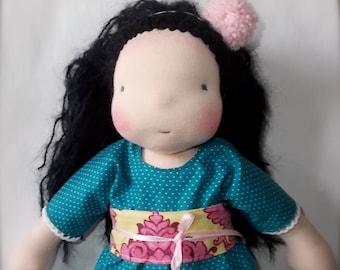 """waldorf doll 13"""" * Snow White * OOAK *"""