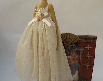 Textile doll Handmade doll Fabric doll Tilda doll Ballerina.  Fabric doll. Tilda doll.Textile doll.  Gift idea. Home decor doll.