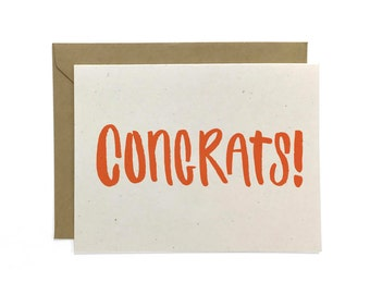 NEW | Hand Lettered Congrats Card, Handlettered Card, Congratulations Card