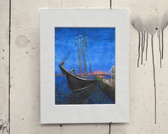 """Sunset at Galilee Giclee Print 11x14"""" 100% of the profits go directly to artists with disabilities Item 213 Frank B."""